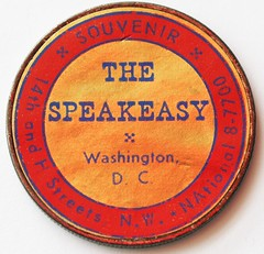 Speakeasy stickered dollar