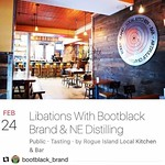 #Repost @bootblack_brand with @repostapp ・・・ Less than 2 hours to our Libations Event @rogueisland with @nedistilling Come down and introduce yourselves and share a cocktail or 2 with Ryan, Bill, and the team at Rogue along with me and @fireyfemme5 and sp