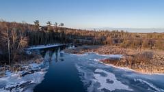 Crooked Lake inlet at the Reg and Vivian Sharkey Nature Preserve