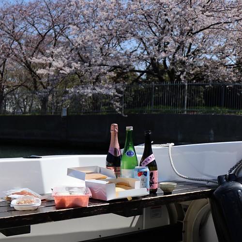 ボートでお花見、と。 #地域ブログ #桜 #Locketsリレー #浜離宮 #ヤマハマリン #seastyle #勝どきマリーナ