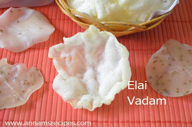 Elai Vadam / Rice Appalam