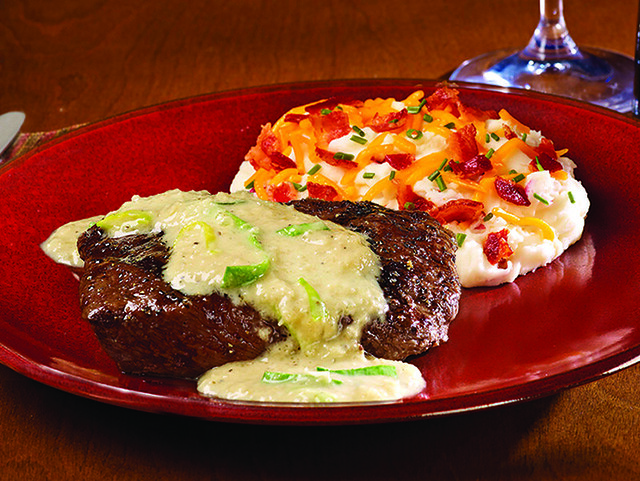 Ribeye Steak with Roasted Onion Sauce