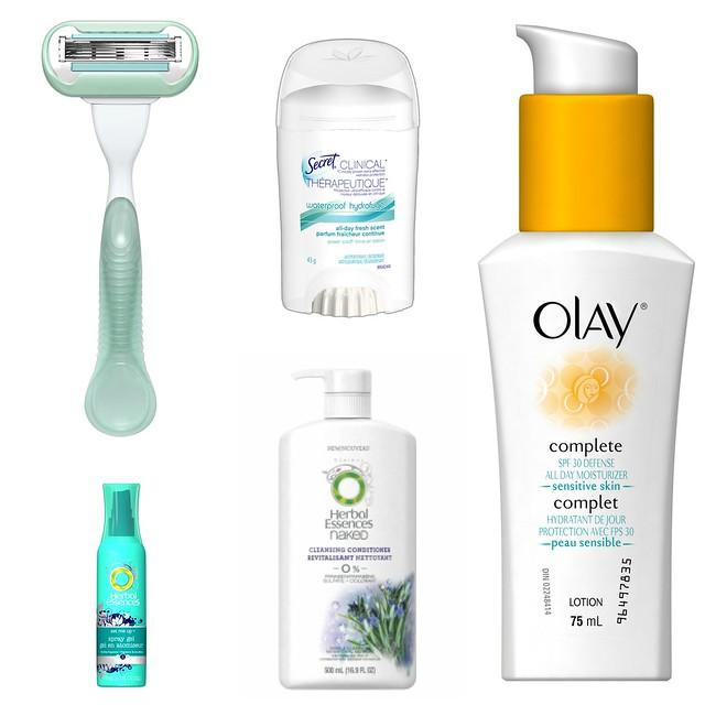 summer beauty giveaway, beach beauty, razor, venus, secret clinical, SPF, leave in conditioner, spray gel, beach waves