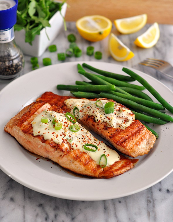 ... Salmon Fillets with Wasabi & Lemon Cream Sauce | www.fussfreecooking