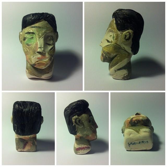 Headache / 76x54x50mm / Natural Stone Clay / ks©2013