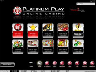 Platinum Play Casino Lobby