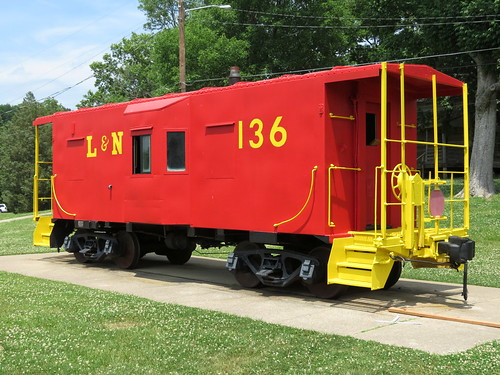 L&N 136 at Red Caboose Park - Bellevue, TN