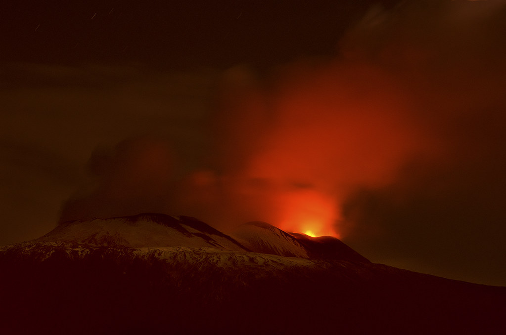 Etna red night