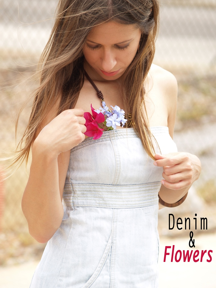 OUTFIT DENIM AND FLOWERS