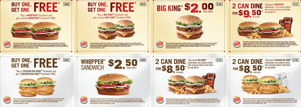 Burger King Coupons 2014