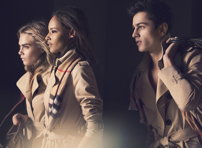7 Cara Delevingne, Malaika Firth and Tarun Nijjer behind the scenes on the Burberry Autumn_Winter 2014 campaign