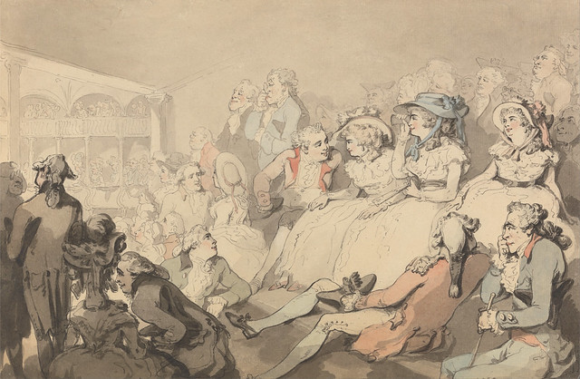 An Audience Watching a Play at Drury Lane Theatre (c1785) by Thomas Rowlandson (1756–1827)