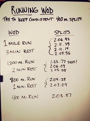 Running WOD...brutal but awesome