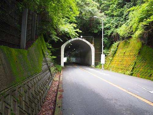 野間峠、トンネル。
