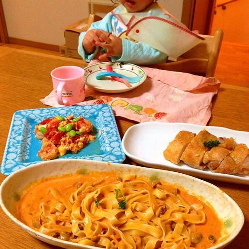 2013年の入院中、初めての外泊で、久しぶりの家族での食卓