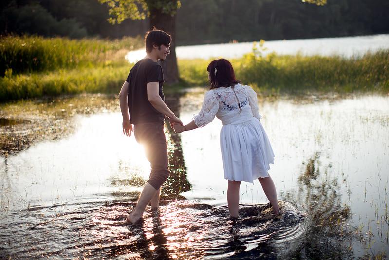 Matt & Zena in the water