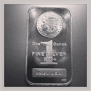 One Troy Ounce Fine Silver Bullion Bar. #argentum
