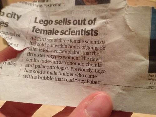 Women Scientist Lego hits news