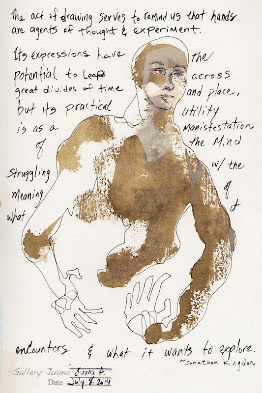 art journal page, july 8 2014