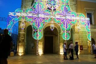 Noicattaro. Illuminazione Chiesa del Carmine front
