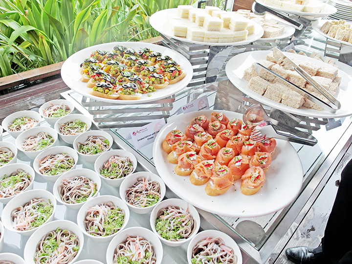 Equarius Hotel buffet wedding