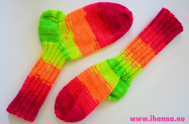 Knitted Neon Socks