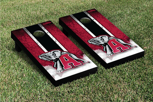 Alabama Crimson Tide Cornhole Game Set Grunge V1