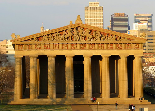 The Parthenon (with some of the Nashville Skyline)