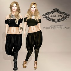 Lise Crop Top - Phoebe Baggy Pants - J.Allen