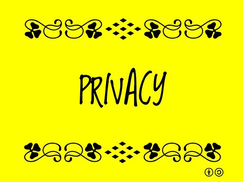 Buzzword Bingo: Privacy = Being free from being observed or disturbed by other people