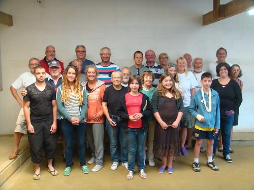 Les participants de la septième séance d'initiation aux boules plombées à Primel Trégastel (Plougasnou) le 20/08/2014