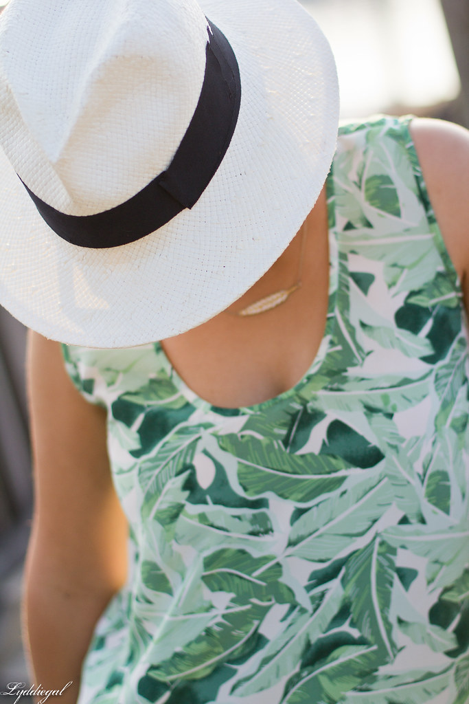 Palm print top, white shorts, panama hat-6.jpg