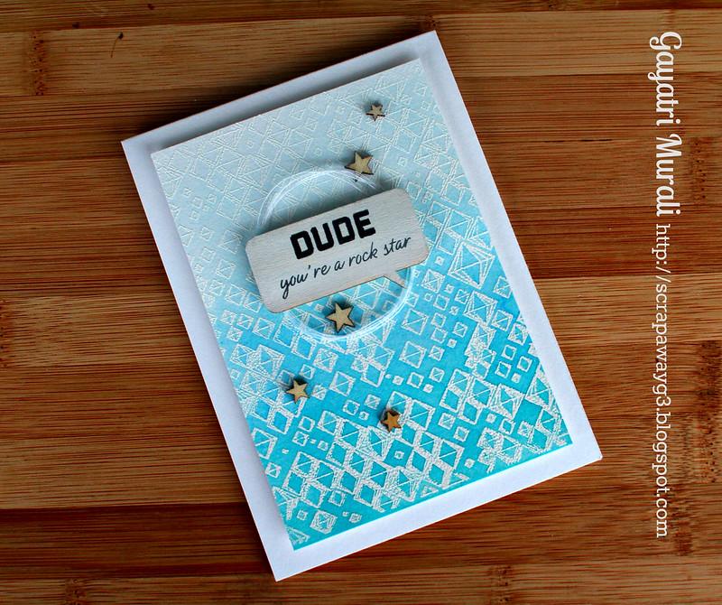 Dude card flat