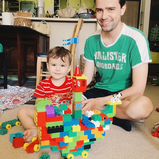The boys built a Lego pirate ship this morning. They're pretty proud of themselves. #instaluther #fatherhood #legos #pirateship