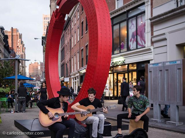 Músicos callejeros en Union Square