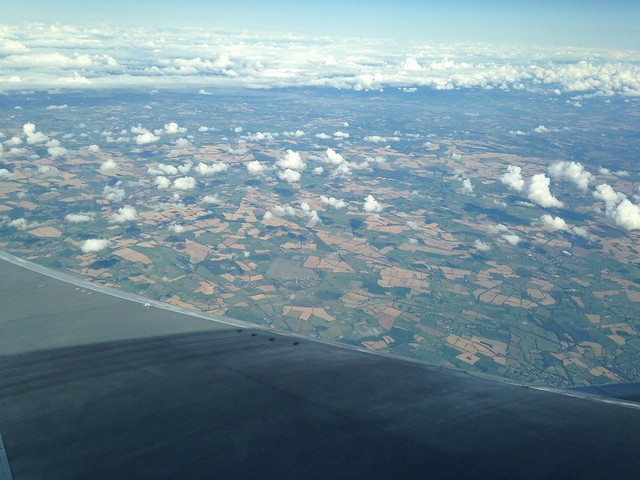 View of the English countryside from 5 or 6 thousand feet up