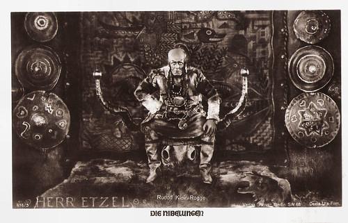 Die Nibelungen: king Etzel (Rudolf Klein-Rogge)