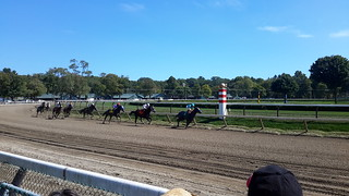 Racing at Saratoga Racetrack