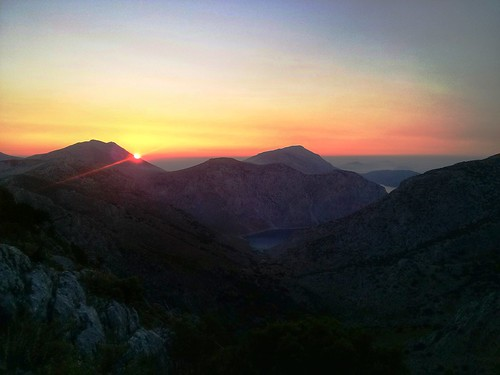 sunset sea sky mountain mountains landscape island colorful greece kalymnos dodecanese