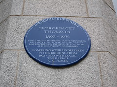 Photo of George Paget Thomson blue plaque