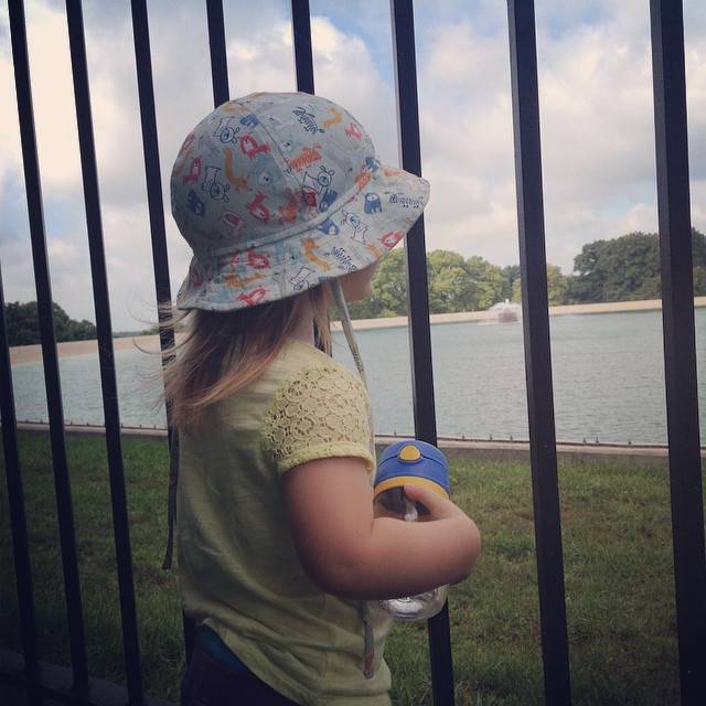 Watching the reservoir.