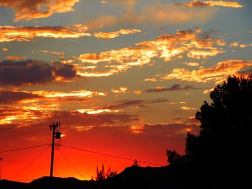 california sunset silhouette clouds desert applevalley