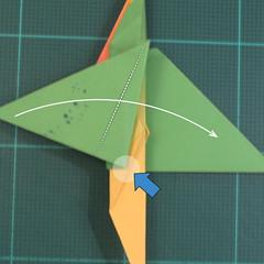 วิธีพับกระดาษเป็นรูปนกแก้ว (Origami Parrot) 029