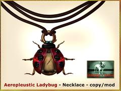 Bliensen - Aeropleustic Ladybug - Necklace