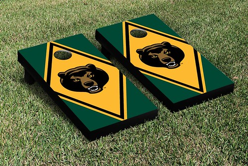 Baylor Bears Cornhole Game Set Diamond Mascot Version