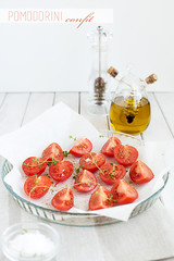 Quinoa salad wit tomatoes confit