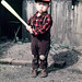 1950s Kid With Baseball Bat, Japan