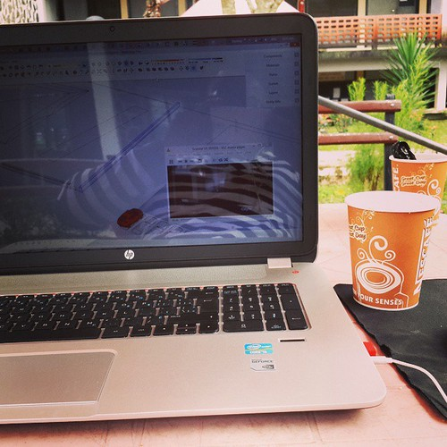 Success wasnt achieved in comfort zones.yea I work anywhere I feel connected to my environs, cos thats where I get my inspirations and quiet even if I love to work in some noisy areas.. Working on a 3d whilst cant do without my nescafe, whilst watching sc