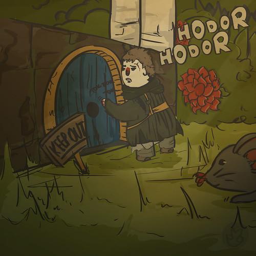 """Hodor sobre esse desenho: """"Hodor?"""""""