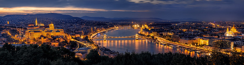 The lights of Budapest